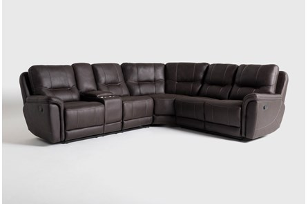 Juniper 3 Piece Reclining Sectional With Left Arm Facing Console Loveseat