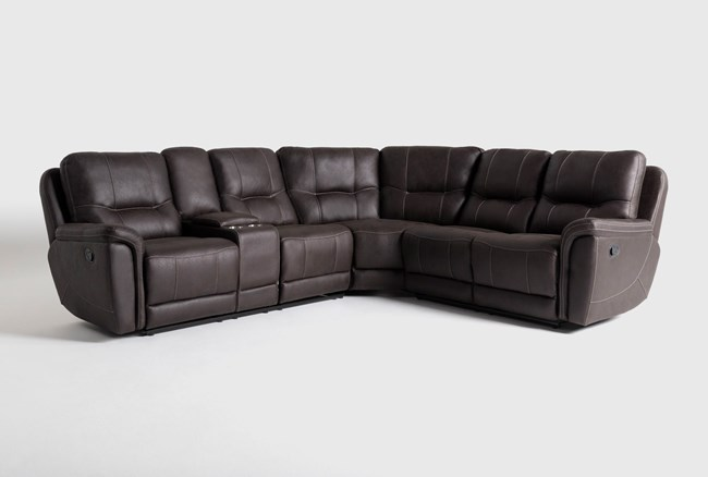 """Juniper 3 Piece 104"""" Reclining Sectional With Left Arm Facing Console Loveseat - 360"""