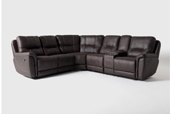Juniper 3 Piece Reclining Sectional With Right Arm Facing Console Loveseat