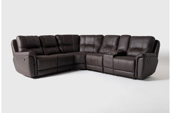 "Juniper 3 Piece 104"" Reclining Sectional With Right Arm Facing Console Loveseat"
