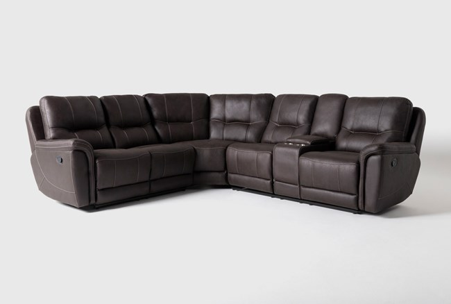 """Juniper 3 Piece 104"""" Reclining Sectional With Right Arm Facing Console Loveseat - 360"""