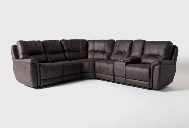 Juniper 3 Piece Reclining Sectional With Right Arm Facing Console Loveseat - 360