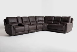 """Juniper 4 Piece 128"""" Reclining Sectional With Left Arm Facing Console Loveseat"""