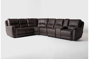 "Juniper 4 Piece 128"" Reclining Sectional With Right Arm Facing Console Loveseat"