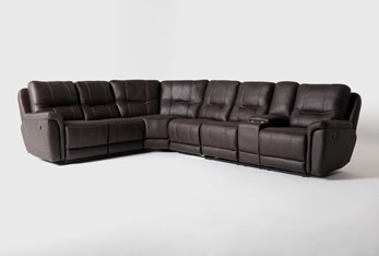 """Juniper 4 Piece 128"""" Reclining Sectional With Right Arm Facing Console Loveseat"""