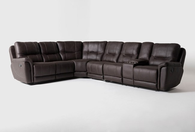 """Juniper 4 Piece 128"""" Reclining Sectional With Right Arm Facing Console Loveseat - 360"""