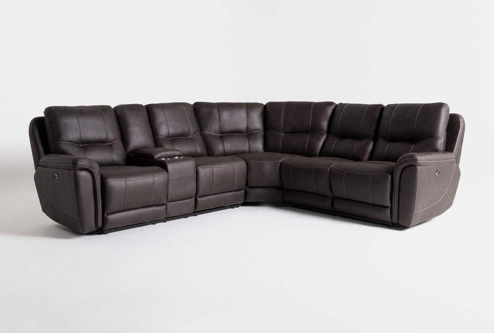 Juniper 3 Piece Power Reclining Sectional With Left Arm Facing Console Loveseat