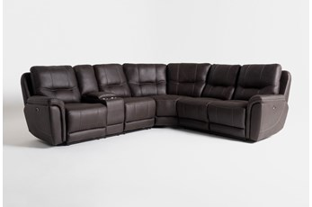 "Juniper 3 Piece 104"" Power Reclining Sectional With Left Arm Facing Console Loveseat"