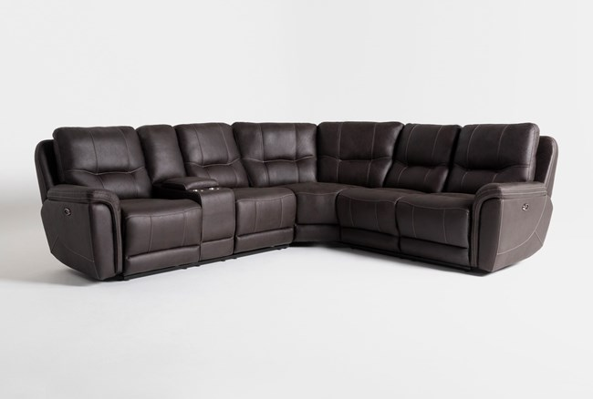"""Juniper 3 Piece 104"""" Power Reclining Sectional With Left Arm Facing Console Loveseat - 360"""