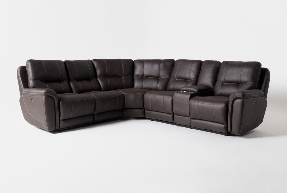 """Juniper 3 Piece 104"""" Power Reclining Sectional With Right Arm Facing Console Loveseat"""