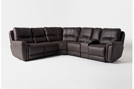 "Juniper 3 Piece 104"" Power Reclining Sectional With Right Arm Facing Console Loveseat"