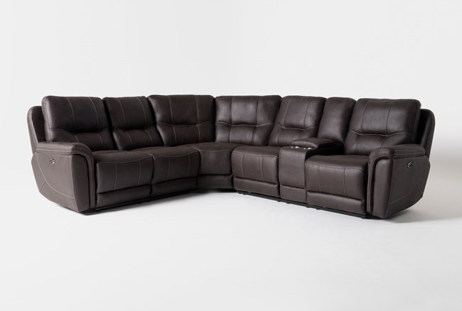 """Juniper 3 Piece 104"""" Power Reclining Sectional With Right Arm Facing Console Loveseat - 360"""