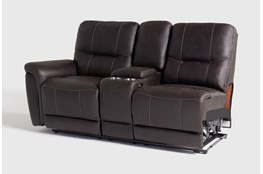 Juniper Left Arm Facing Dual Power Reclining Console Loveseat
