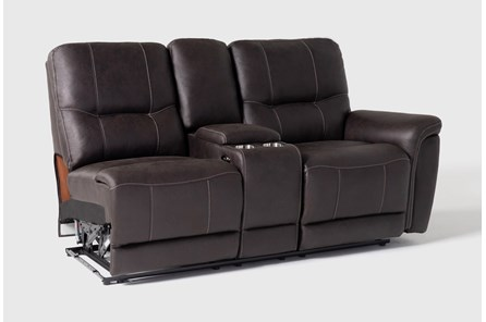 Juniper Right Arm Facing Dual Power Reclining Console Loveseat
