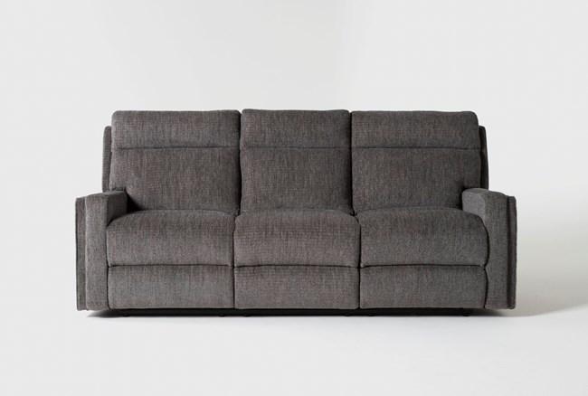 "Hewitt Grey 85"" Reclining Sofa - 360"