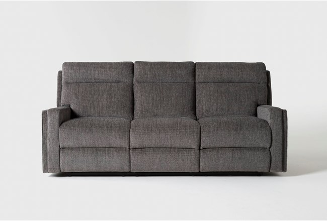 Hewitt Grey Reclining Sofa - 360