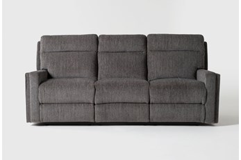 "Hewitt Grey 85"" Power Reclining Sofa With USB"