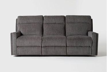 "Hewitt Grey 85"" Power Reclining Sofa With USB"