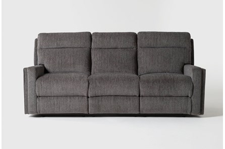 Hewitt Grey Power Reclining Sofa With USB