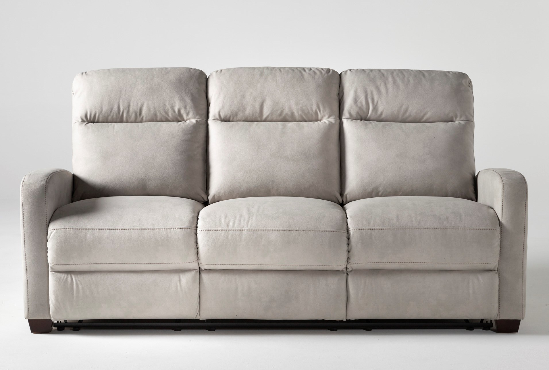 Jarrell Light Grey 81 Reclining Sofa, Comfort Living Furniture San Leandro
