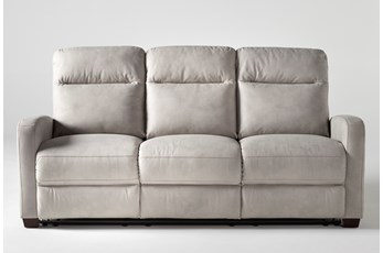 "Jarrell Light Grey 81"" Reclining Sofa"
