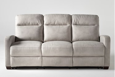 "Jarrell Light Grey 81"" Reclining Sofa"