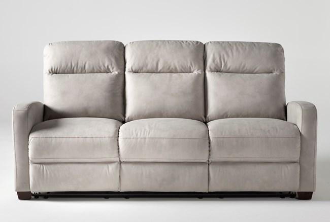 "Jarrell Light Grey 81"" Reclining Sofa - 360"