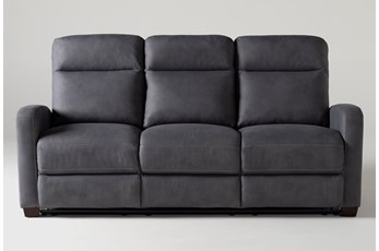 "Jarrell Blue Grey 81"" Reclining Sofa"