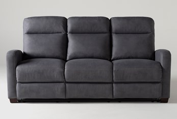 "Jarrell Blue Grey 81"" Reclining Sofa"