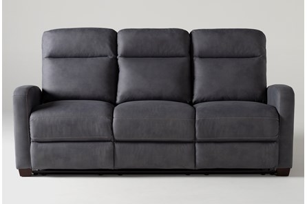 Jarrell Blue Grey Reclining Sofa