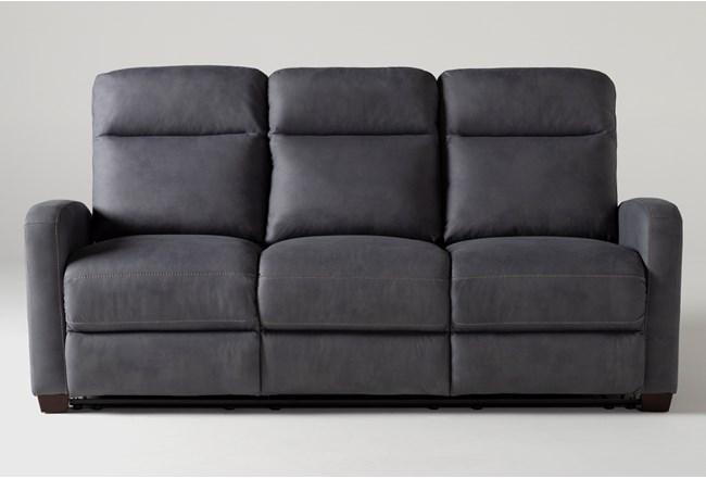 "Jarrell Blue Grey 81"" Reclining Sofa - 360"