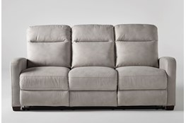 "Jarrell Light Grey 81"" Power Reclining Sofa With USB"