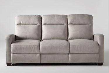 "Jarrell Light Grey 81"" Power Reclining Sofa With USB"