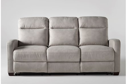 Jarrell Light Grey Power Reclining Sofa With USB