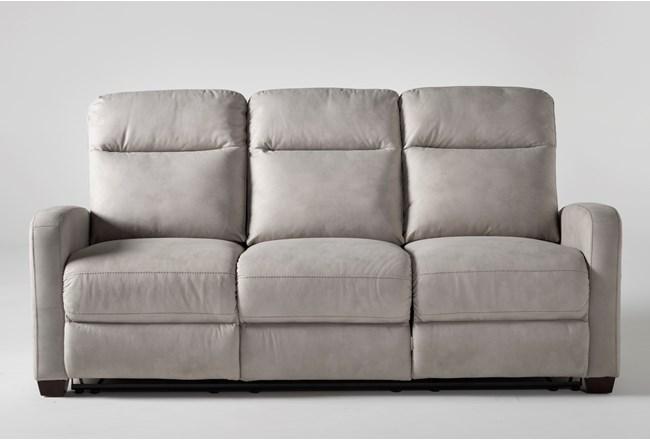"Jarrell Light Grey 81"" Power Reclining Sofa With USB - 360"