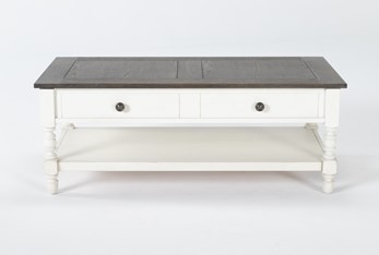 Candice Two-Tone Lift-Top Coffee Table