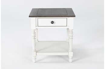 Candice Two-Tone End Table