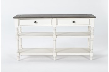 "Candice Two-Tone 54"" Sofa Table"