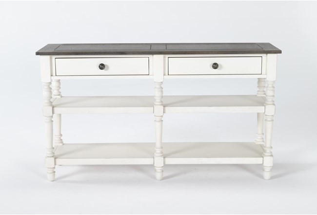 Candice Two-Tone Console Table - 360