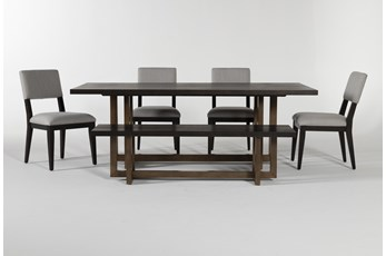 Pierce Black 6 Piece Dining Set