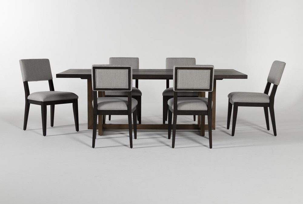 Pierce Black 7 Piece Dining Set
