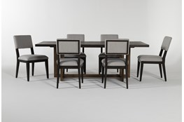 Pierce Black 7 Piece Dining Set