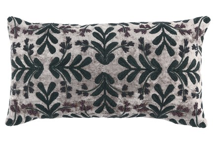 Accent Pillow-Bay Green Traditional Leaves 14X26