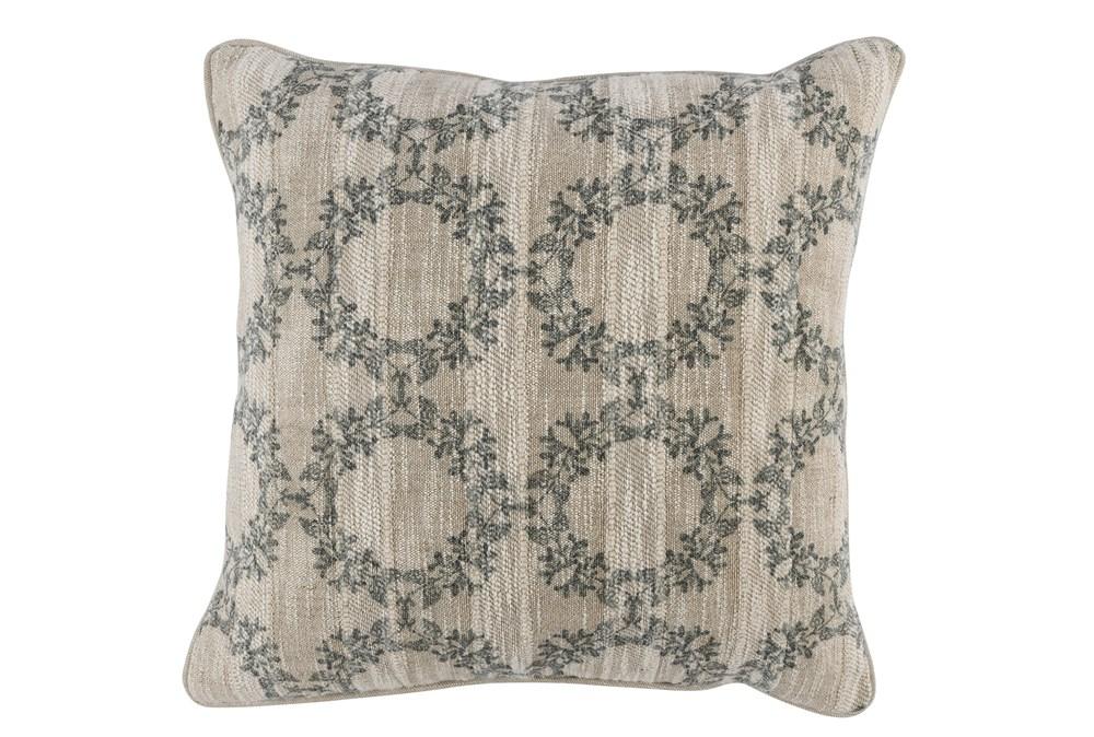 Accent Pillow-Bay Green Wreaths 22X22