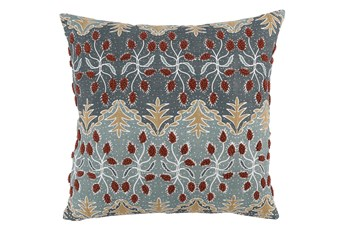 Accent Pillow-Bay Green Traditional Embroidery 22X22