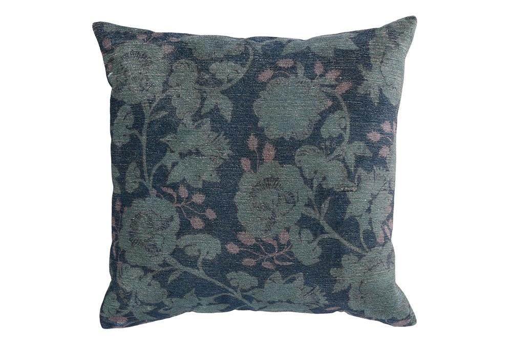 Accent Pillow-Midnight Blue Floral 20X20