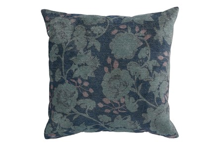 Accent Pillow-Midnight Blue Floral 20X20