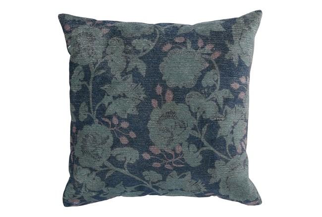 Accent Pillow-Midnight Blue Floral 20X20 - 360