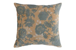 Accent Pillow-Bay Green Floral On Wheat 20X20
