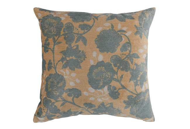 Accent Pillow-Bay Green Floral On Wheat 20X20 - 360